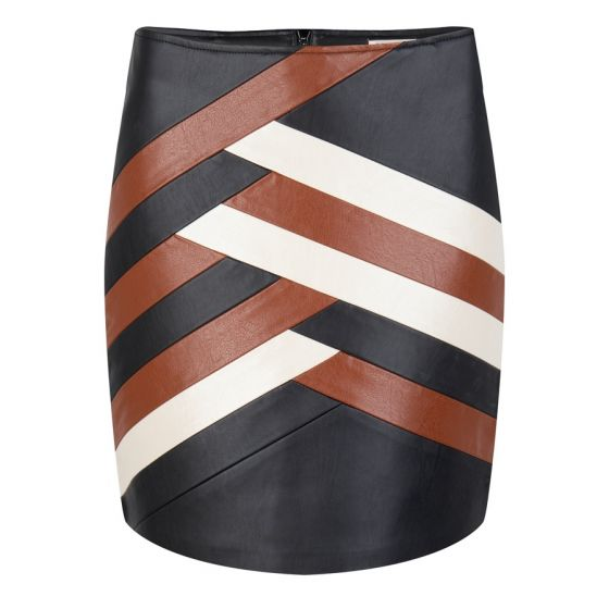 Esqualo PU Skirt Chevron