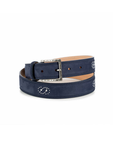 Tailored Sportsman Belt Quilted Leather Capri Blue