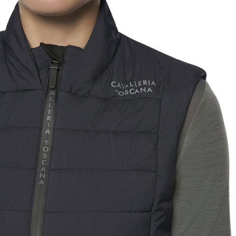 Cavalleria Toscana Flocked Mini CT Jersey Fleece Zip Turtleneck