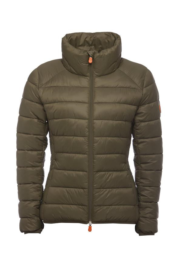Save the Duck Women's Giga Jacket Dusty Olive - Luxe EQ