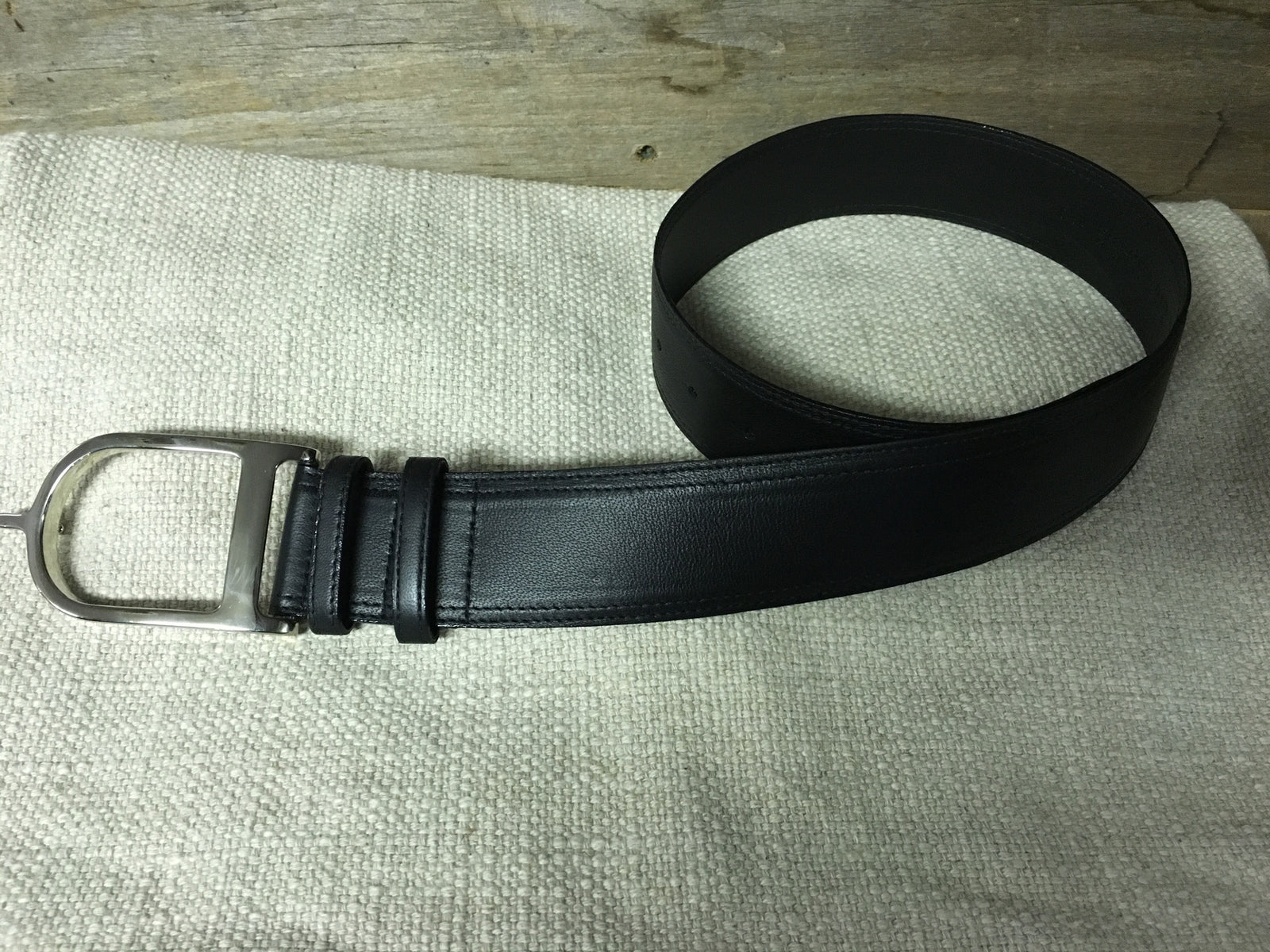 Duftler Spur Belt  Black Lamb W/Silver Buckle - Luxe EQ