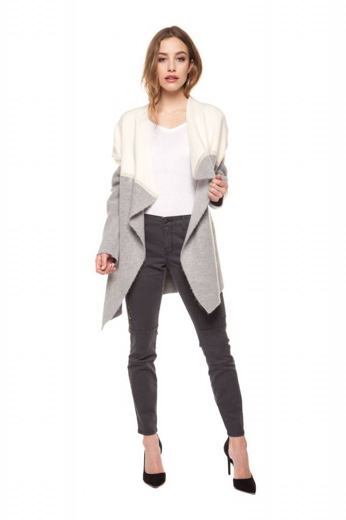 Black Tape Asymetric Open Cardigan - Luxe EQ