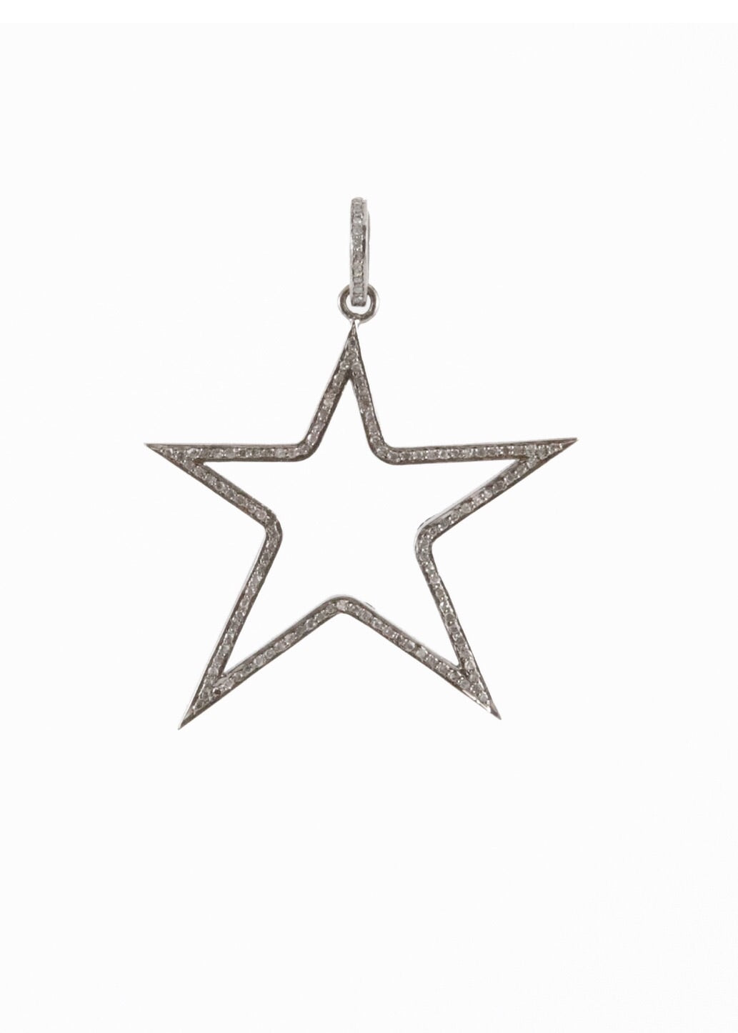 Harvest Jewels Cutout Star Pave Diamond Pendant - Luxe EQ