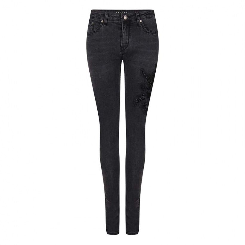 Esqualo Jeans with embroidered patch - Luxe EQ