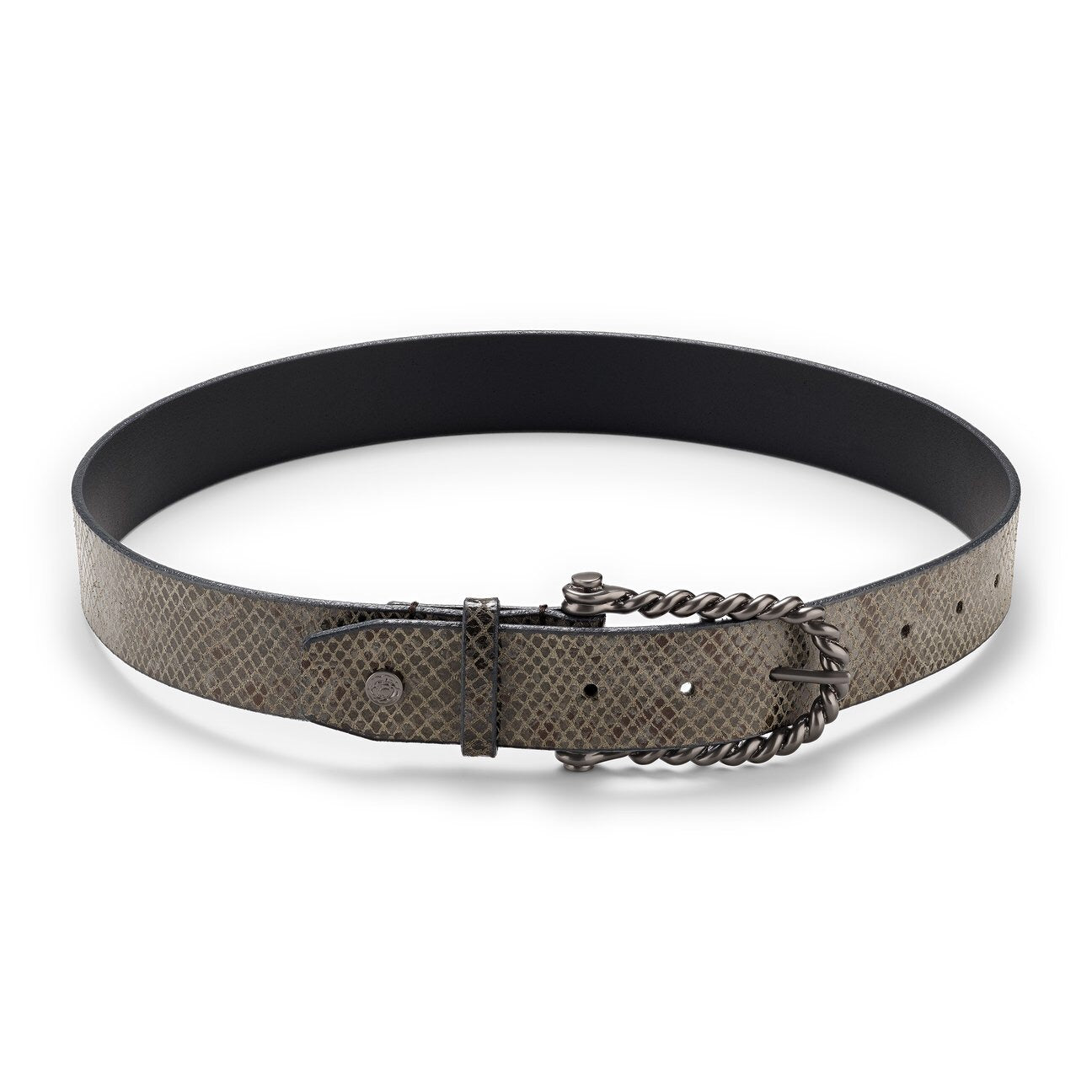 Hannah Childs Lifestyle Gunmetal Python Belt - Luxe EQ
