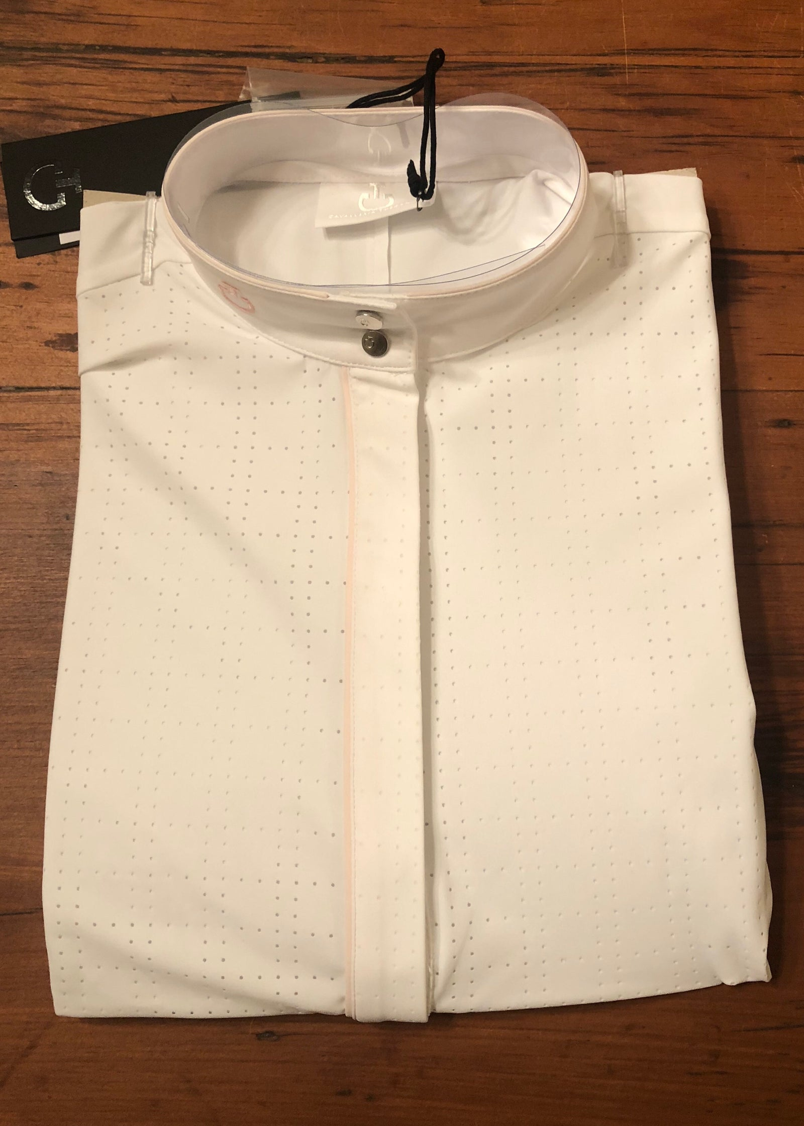 Cavalleria Toscana Perforated Competition Shirt with Piping - Luxe EQ