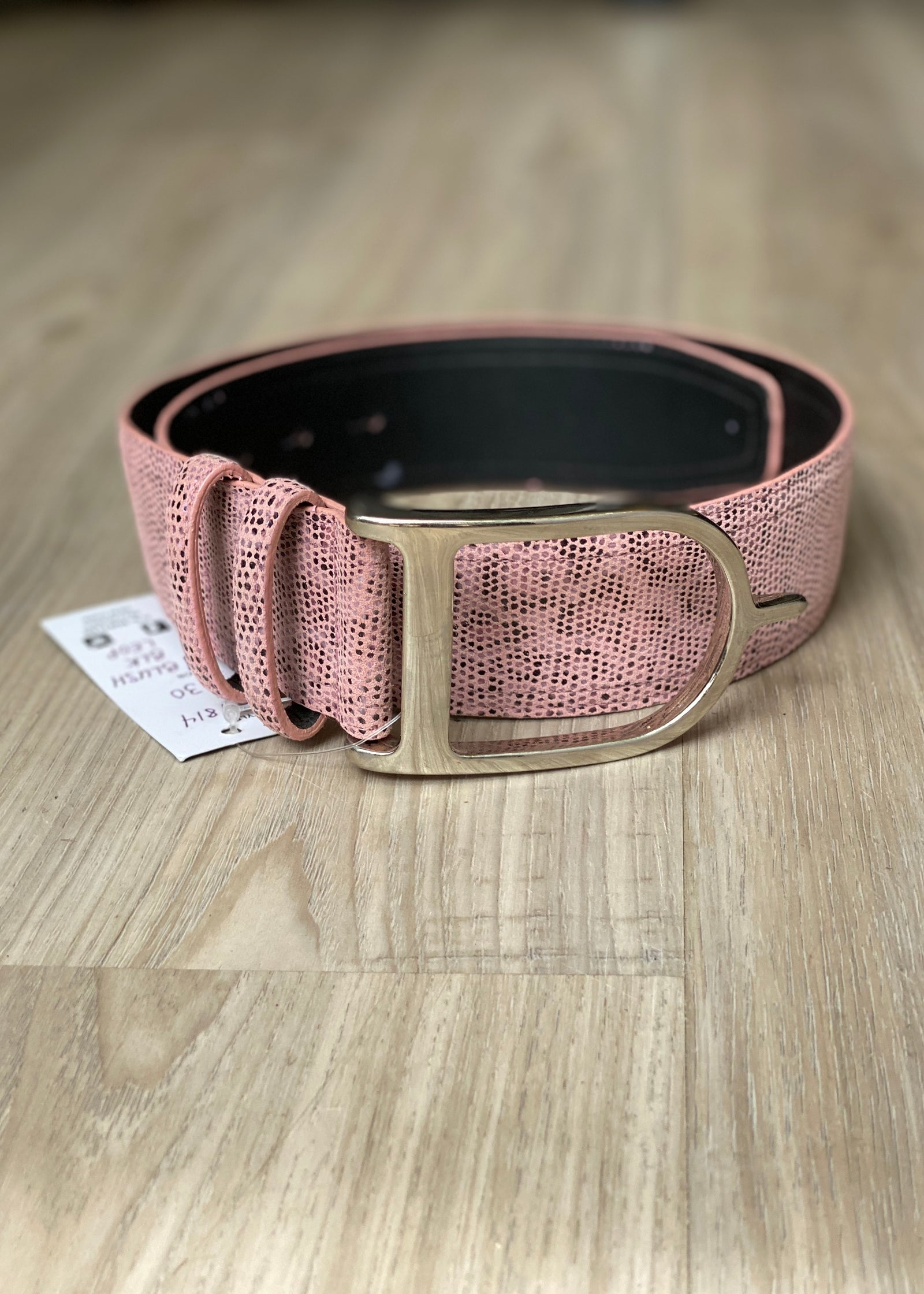 Duftler Spur Belt Blush Leopard With Silver Buckle - Luxe EQ