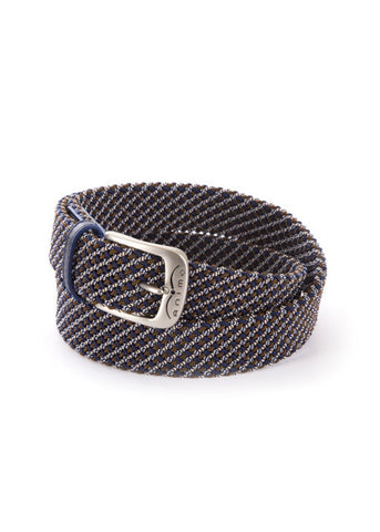 Duftler Spur Belt Black Scale with Gunmetal Buckle