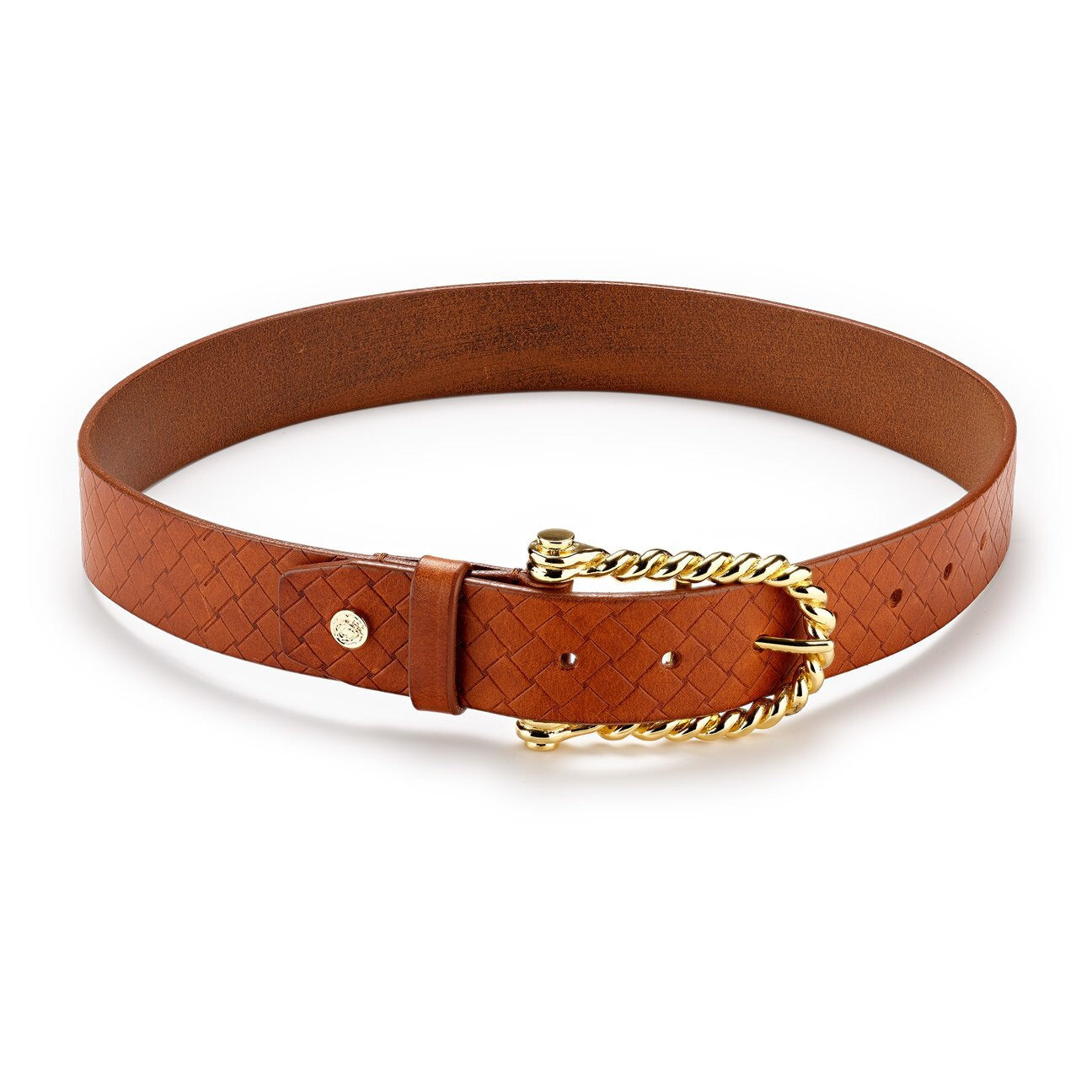 Hannah Childs Lifestyle Woven Emboss Belt Saddle - Luxe EQ