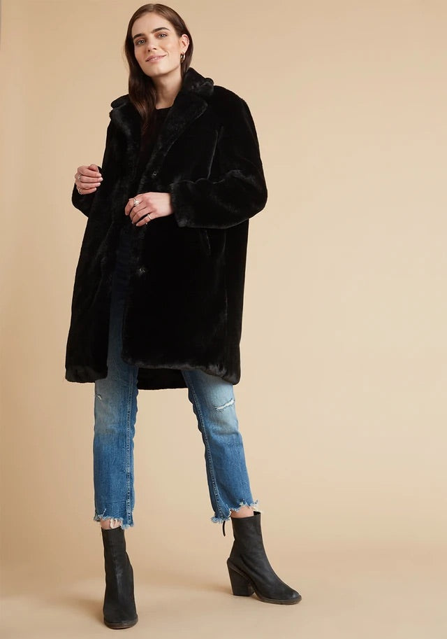 Bella Dahl Fur Midi Coat