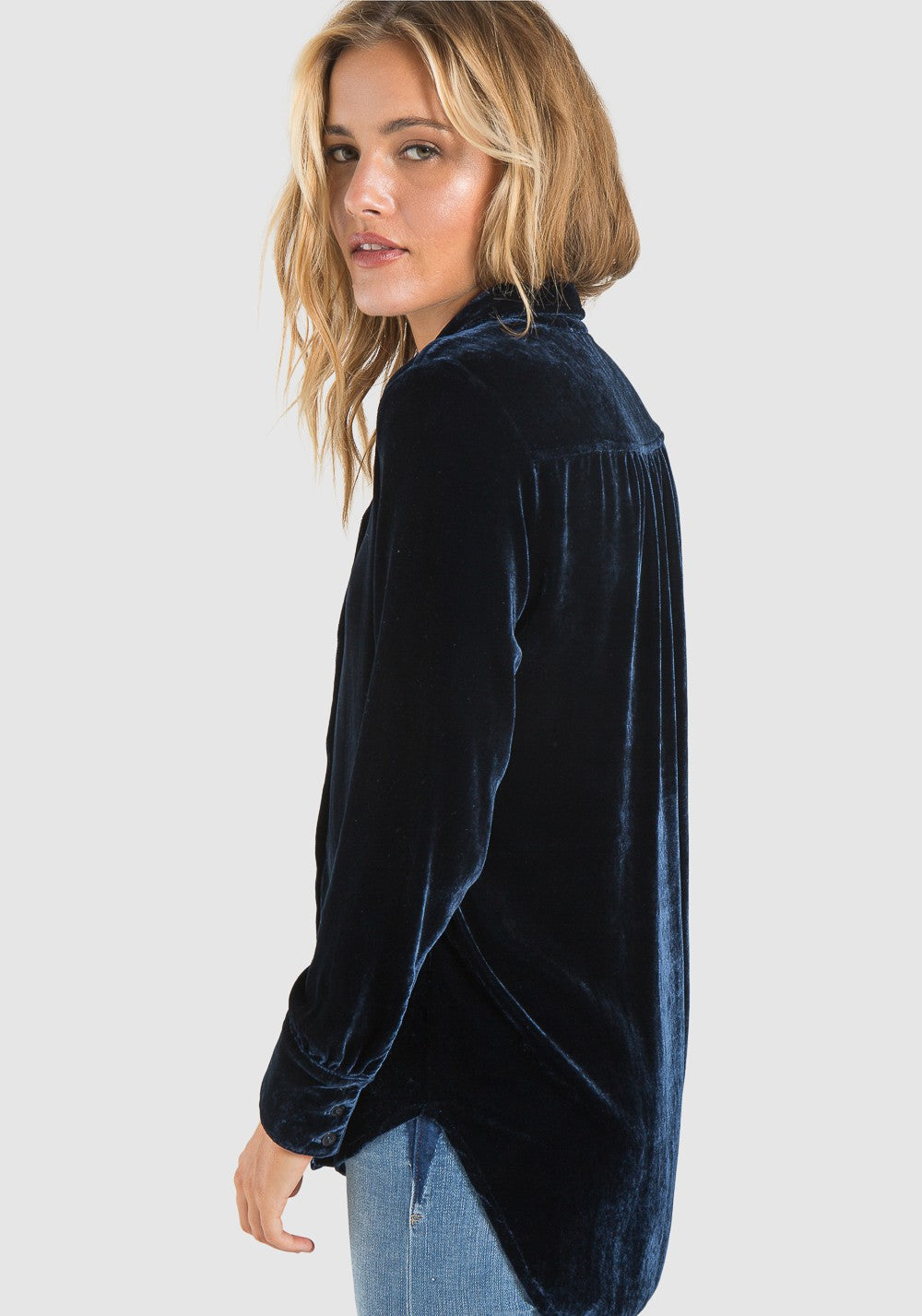 Bella Dahl Button Up Velvet Tunic