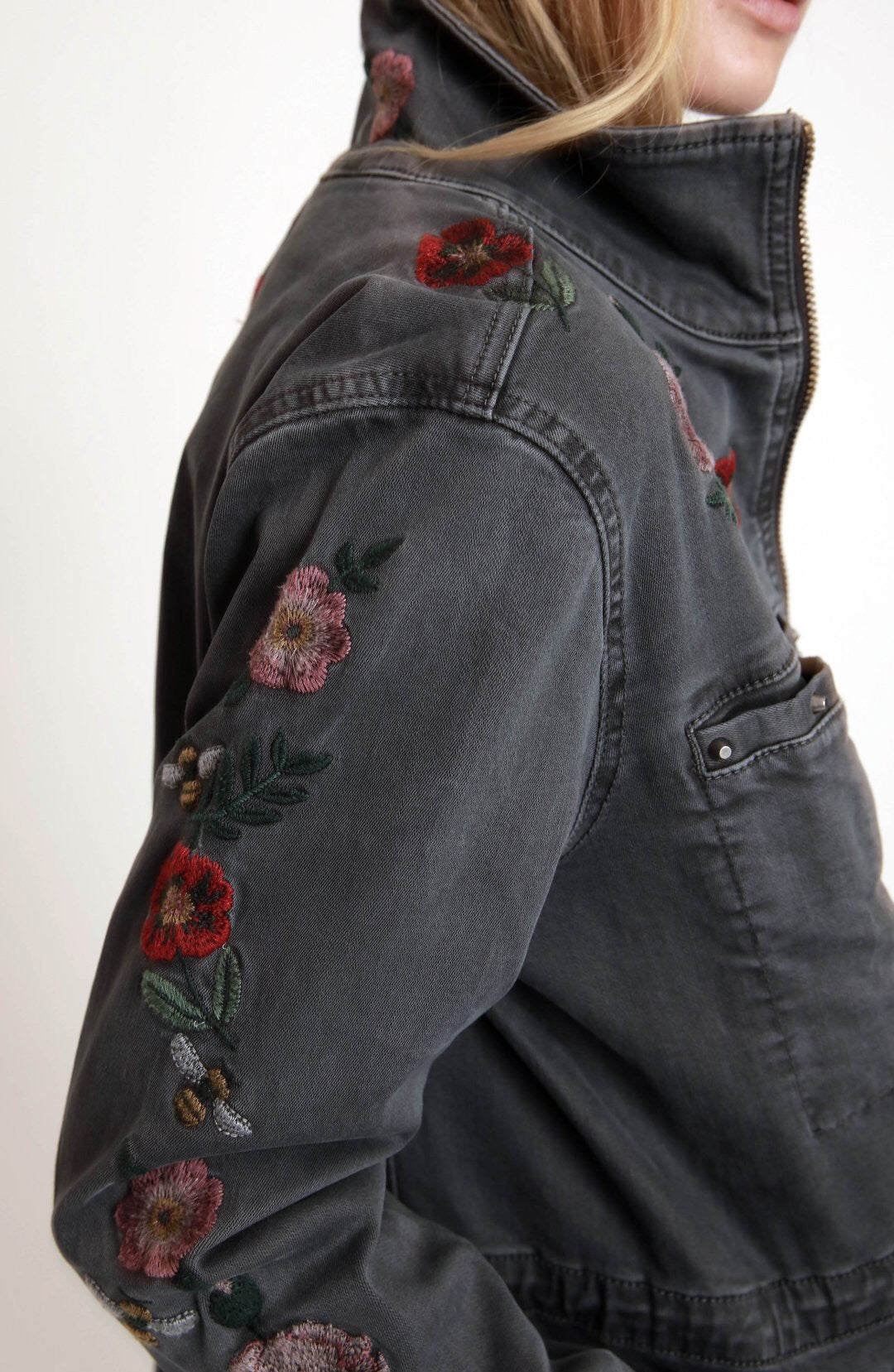 Billy T Embroidered Jacket - Luxe EQ