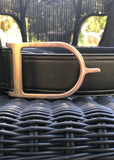 Duftler Spur Belt Olive Metalic Rose Gold Buckle
