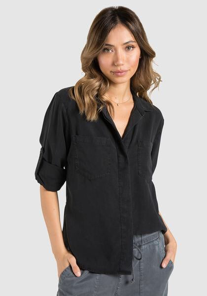 Bella Dahl Split Back Button Down - Luxe EQ