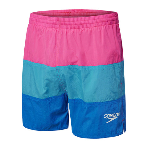 Panel Solid Leisure Short / Shocking pink/Ocean/Blue Jay