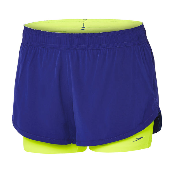 2 in 1 Training Short Ladies Speedo Speed/ Safety yellow
