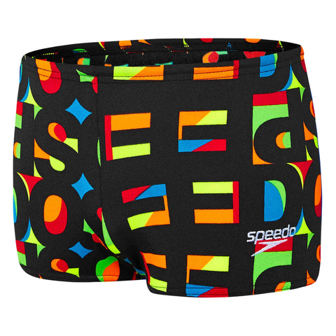 Toddler Boys Text Aquashort Black Multi Speedo