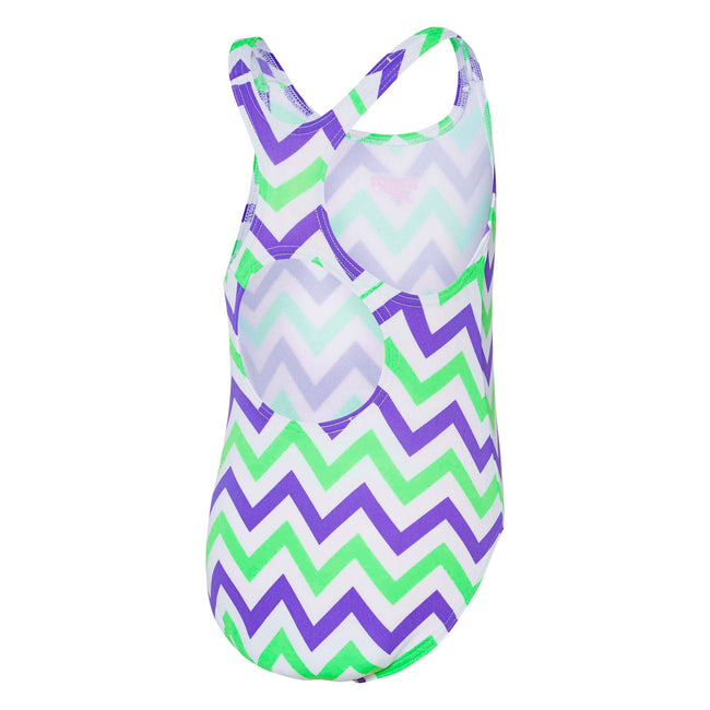 Zig Zag Toddlers Girl Medalist Galaxy/ Summer Green Speedo