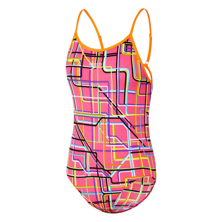 Girls Lineal Short Sleeve Sun Top Speedo