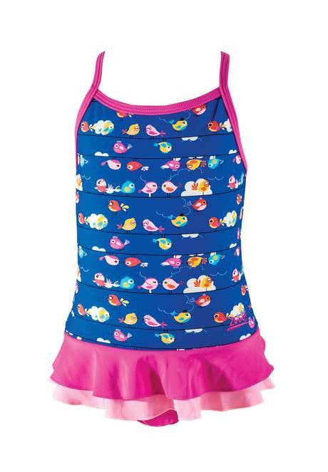 Pretty Bird X Back  Swimdress Zoggs children