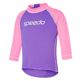 Toddlers Speedo Long Slve Sun Top/ Galaxy/ Pink Parfait