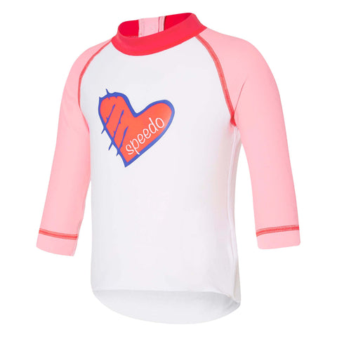 Baby Girl Logo Long Sleeve Sun Top Speedo