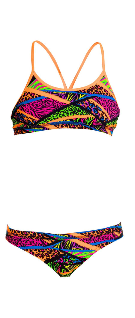 Ripple Effect -Girls  Criss Cross Back Two Piece Funkita