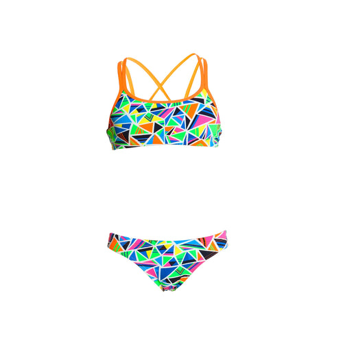 Crazy Cracks Criss Cross Two Piece Funkita Girls