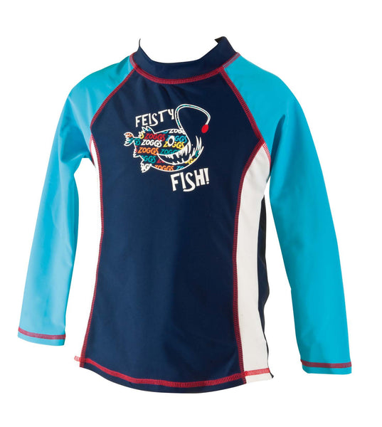 Feisty Fish Long  Sleeve Sun Top Zoggs