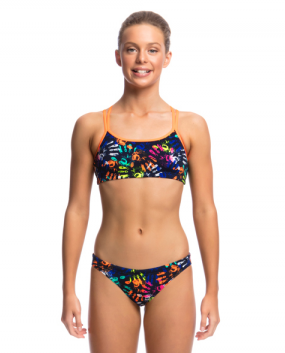 Hands Off -Girls  Criss Cross Back Two Piece Funkita