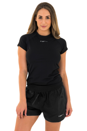 Kirra Ladies Short Black  Zoggs