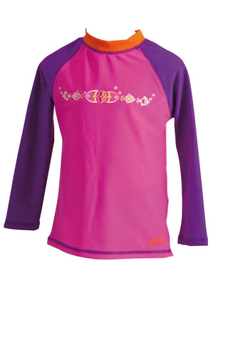 Sea Garden Long Sleeve Suntop  Zoggs children
