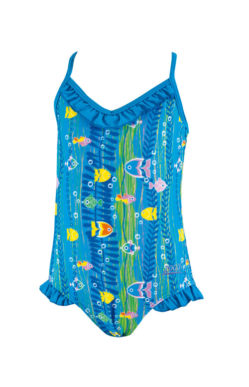 Sea Garden Frill V Back  Zoggs children