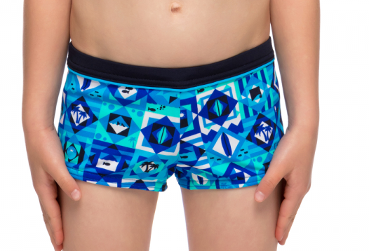 Strike It Lucky Square Trunks Toddler Boys