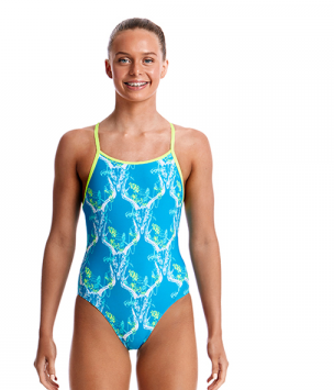 Heart Splatter Funky-Girls Single Strap Funkita