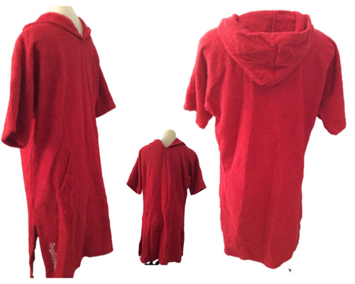 Red Togtastic Terry Towel Pool/Beach Poncho Accessories