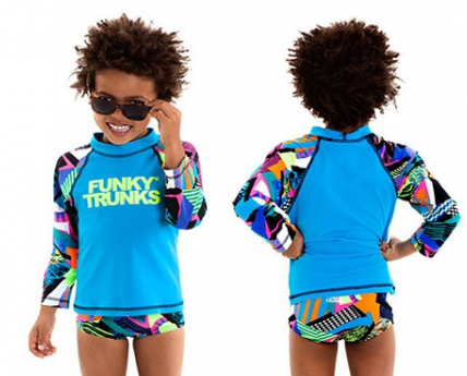 Bel Air Beats Toddlers  Long sleeve Sun Top Funky trunks