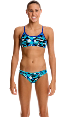 Blue Steel -Girls Racerback 2 piece Funkita