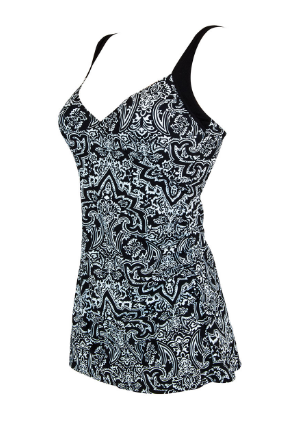 Zen Resort Wrap/ Black White  Swimdress Zoggs
