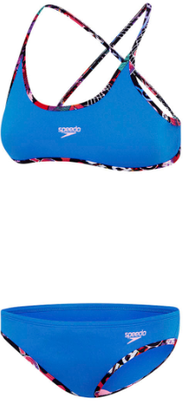 Girls Tie 2 piece/ Cadet Blue Girls Speedo