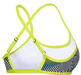 Sound Waves  Crop  Ladies Speedo