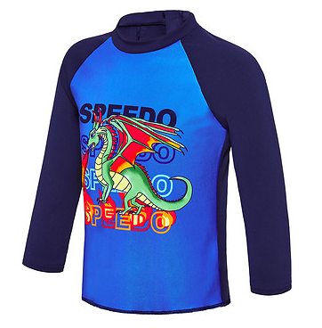Flaming Dragon Toddler Boys  Long Sleeve Suntop Speedo