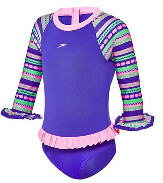 Toddler Girl Tropical Suntop Speedo