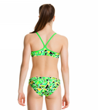 Fluro Fracture -Girls  Racerback Two Piece Funkita