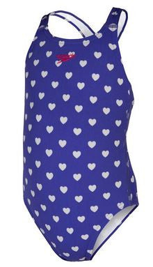 Heart Twinback Toddlers Speedo Bon Bon
