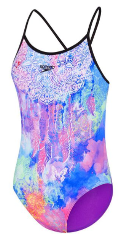 Mandala Strap back Girls Speedo