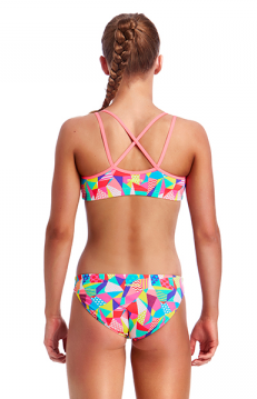 Pastel Patch -Girls  Criss Cross Back Two Piece Funkita