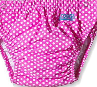 Adjustable Swim Nappy Zoggs/ Girls Pink white dots
