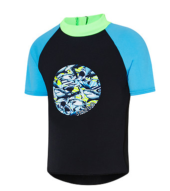 Toddler BoysShark Frenzy Short Sleeve Suntop Speedo