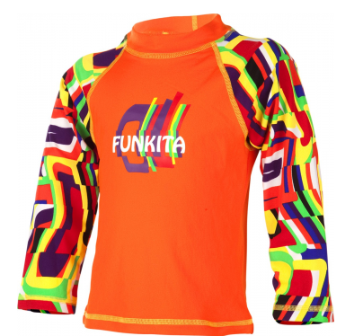 System Distortion Toddlers  Long sleeve Sun Top Funkita
